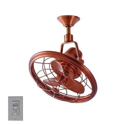 Trendy Copper Outdoor Ceiling Fans In Copper – Outdoor – Ceiling Fans – Lighting – The Home Depot (View 14 of 15)