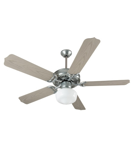 Trendy Craftmade K11154 Porch 52 Inch Galvanized Steel With Weathered Pine Pertaining To Craftmade Outdoor Ceiling Fans Craftmade (View 2 of 15)