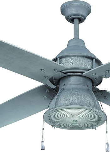 """Trendy Craftmade Par52agv4 52"""" Complete Galvanized Metal Ceiling Fan With With Galvanized Outdoor Ceiling Fans With Light (View 3 of 15)"""