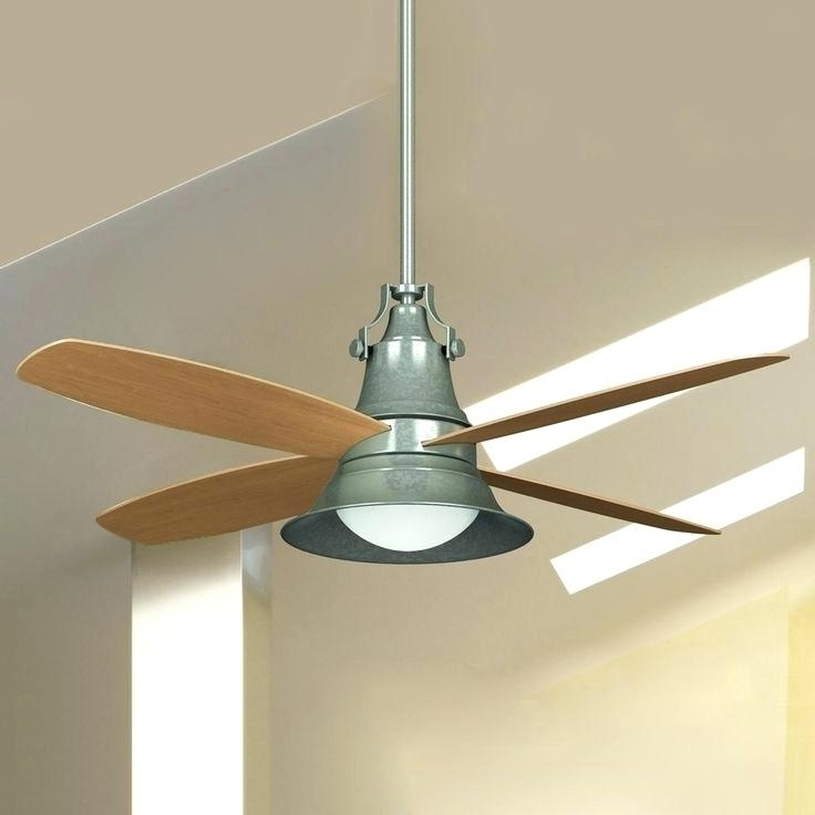 Trendy Galvanized Outdoor Ceiling Fans For Galvanized Outdoor Ceiling Fan Galvanized Carter Indoor Outdoor (View 15 of 15)