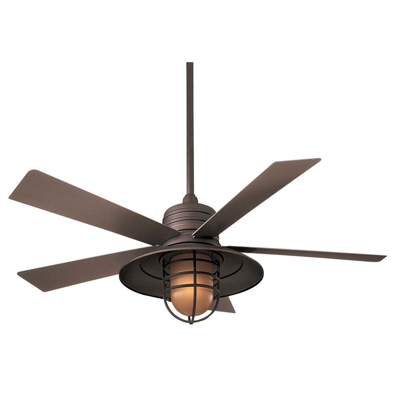 "Trendy Minka Aire 54"" Rainman 5 Blade Outdoor Led Ceiling Fan & Reviews With Regard To Outdoor Ceiling Fans With Removable Blades (View 13 of 15)"