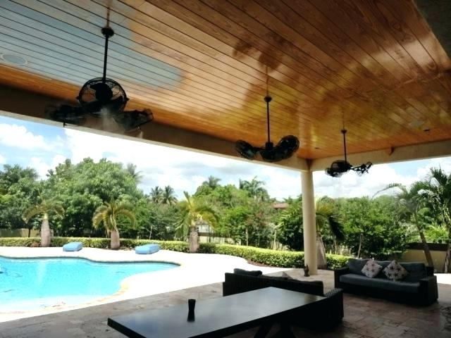 Trendy Misting Ceiling Fan Best Outdoor Ceiling Fans With Misters And Chill Within Outdoor Ceiling Fans With Misters (View 6 of 15)