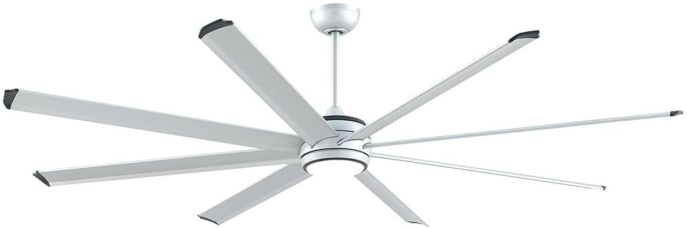Trendy Modern Outdoor Ceiling Fans With Lights Within Modern Outdoor Ceiling Fans Fans Stellar Modern Silver With Black (View 15 of 15)