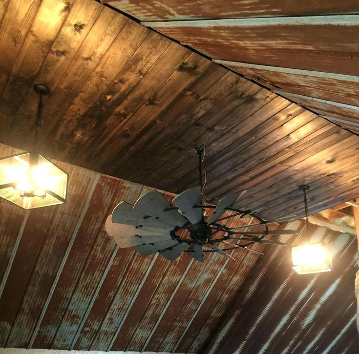 Trendy Outdoor Ceiling Fans For Barns With Regard To Rustic Looking Ceiling Fans Rustic Looking Outdoor Ceiling Fans (View 12 of 15)