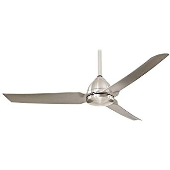 "Trendy Outdoor Ceiling Fans With Aluminum Blades In Minka Aire F624 Abd Roto Xl, 62"" 3 Blades Ceiling Fan In Brushed (View 9 of 15)"