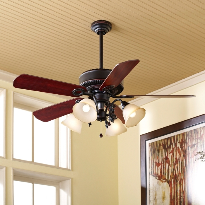 Trendy Outdoor Ceiling Fans With Downrod With Regard To Ceiling Fan Buying Guide (View 12 of 15)