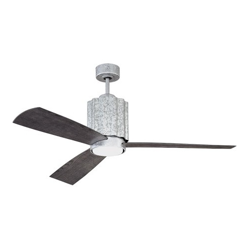 Trendy Outdoor Ceiling Fans With Galvanized Blades Within Craftmade Pnr52Gv3 Pioneer 52 Inch Galvanized With Greywood Blades (View 15 of 15)