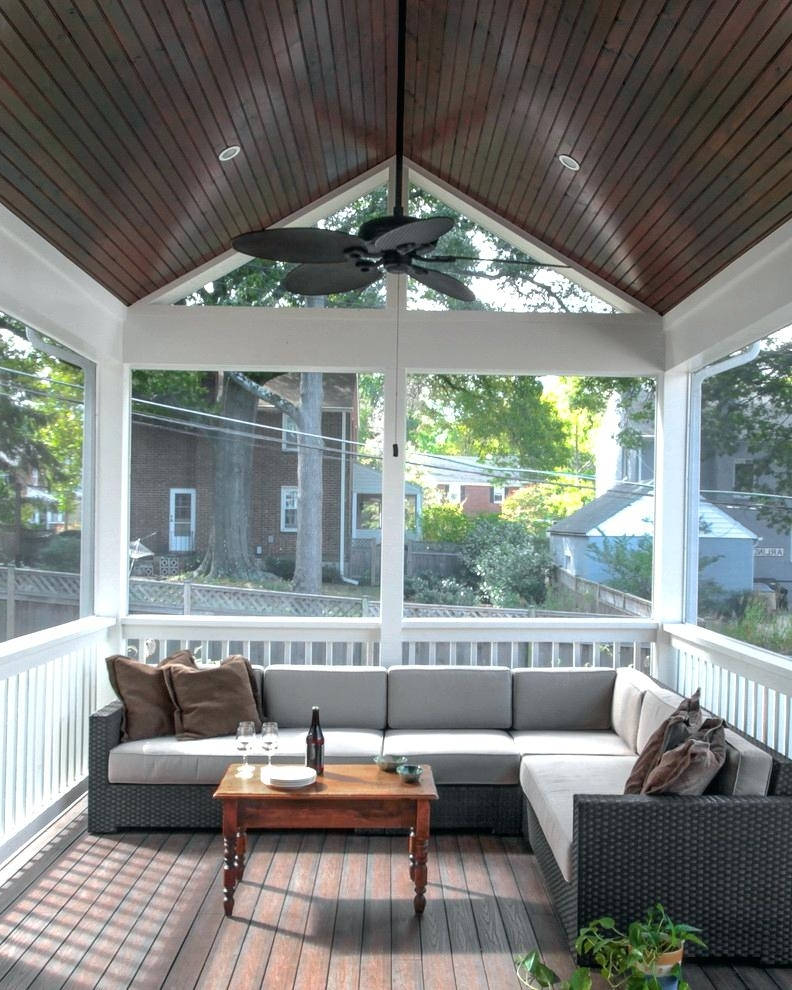 Trendy Patio Ceiling Ideas Porch Ceiling Ideas Porch Traditional With With Regard To Outdoor Ceiling Fans For Screened Porches (View 8 of 15)