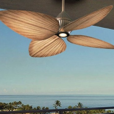 Tropical Ceiling Fans: Overhead Palm Leaf & Bamboo Blade Fans In Most Popular Tropical Outdoor Ceiling Fans (View 14 of 15)