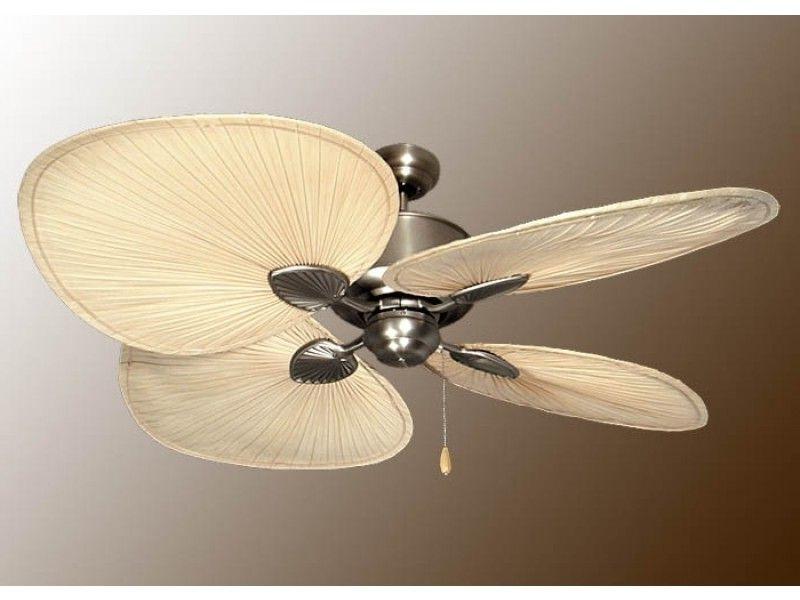 """Tropical Design Outdoor Ceiling Fans In Fashionable Palm Ceiling Fan, Tropical Ceiling Fans, 56"""" Island Breeze Ii Fan (View 9 of 15)"""