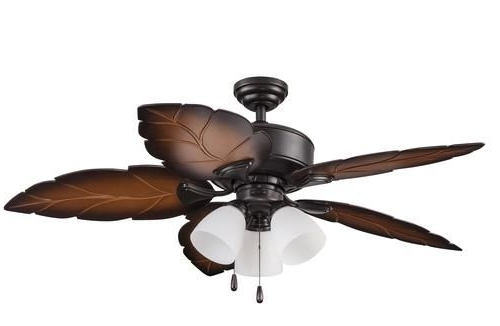 Tropical Outdoor Ceiling Fans With Lights For Famous Turn Of The Century® Sonesta Ii 52 In (View 9 of 15)