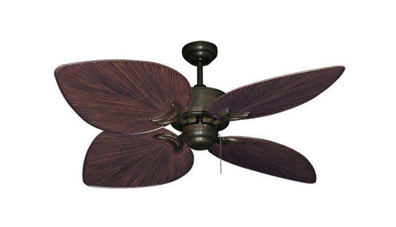 Tropical Outdoor Ceiling Fans With Lights With Regard To Well Liked 52 Inch Tropical Outdoor Ceiling Fan Bombay Weathered Brick – Gulf (View 13 of 15)
