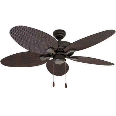 "Wayfair Outdoor Ceiling Fans Intended For Most Up To Date Bayou Breeze 48"" Kalea 5 Blade Outdoor Ceiling Fan & Reviews (View 6 of 15)"