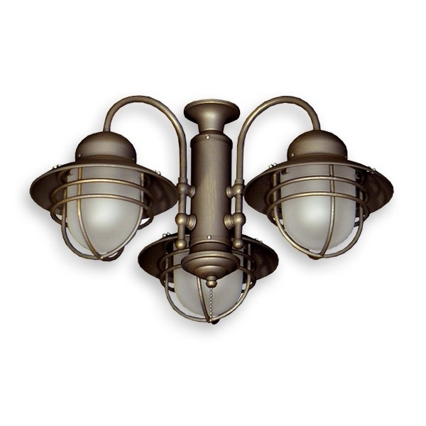 Well Known 362 Nautical Styled Outdoor Ceiling Fan Light Kit – 3 Finish Choices Inside Nautical Outdoor Ceiling Fans With Lights (View 14 of 15)