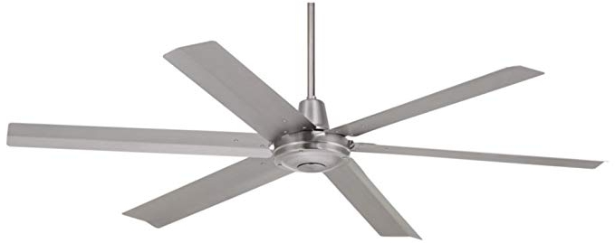 "Well Known 60"" Turbina Max Brushed Steel Outdoor Ceiling Fan – – Amazon Within Amazon Outdoor Ceiling Fans With Lights (View 11 of 15)"