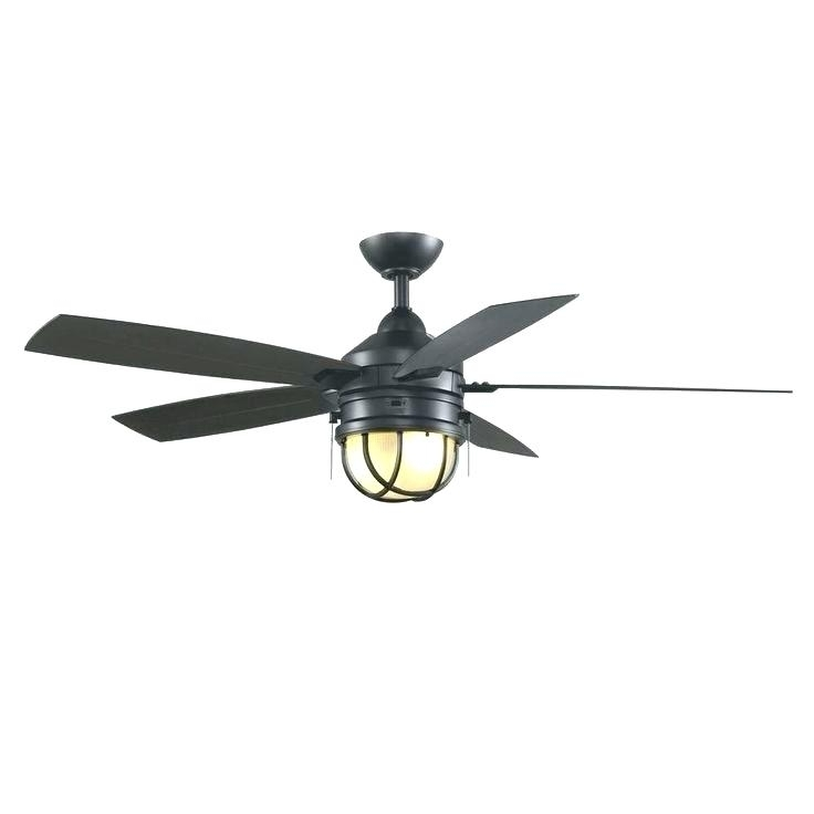 Well Known Black Outdoor Ceiling Fans With Light In Black Outdoor Ceiling Fans With Lights Fan No Light Without Lamp (View 7 of 15)