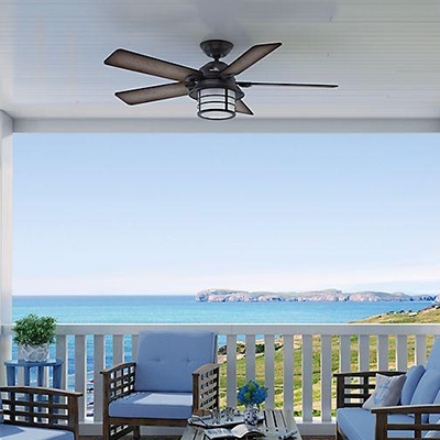 Well Known Ceiling Fans At The Home Depot For Exterior Ceiling Fans With Lights (View 14 of 15)