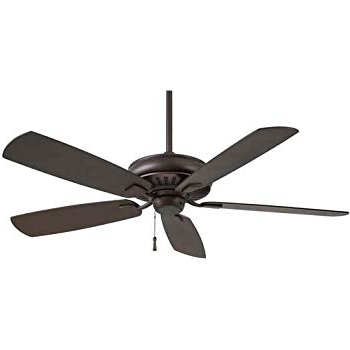 "Well Known Minka Aire F532 Orb Sunseeker 60"" Outdoor Ceiling Fan, Oil Rubbed Intended For Oil Rubbed Bronze Outdoor Ceiling Fans (View 4 of 15)"