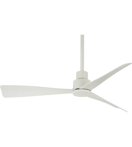 Well Known Minka Aire F786 Whf Simple 44 Inch Flat White Outdoor Ceiling Fan Pertaining To Minka Outdoor Ceiling Fans With Lights (View 14 of 15)