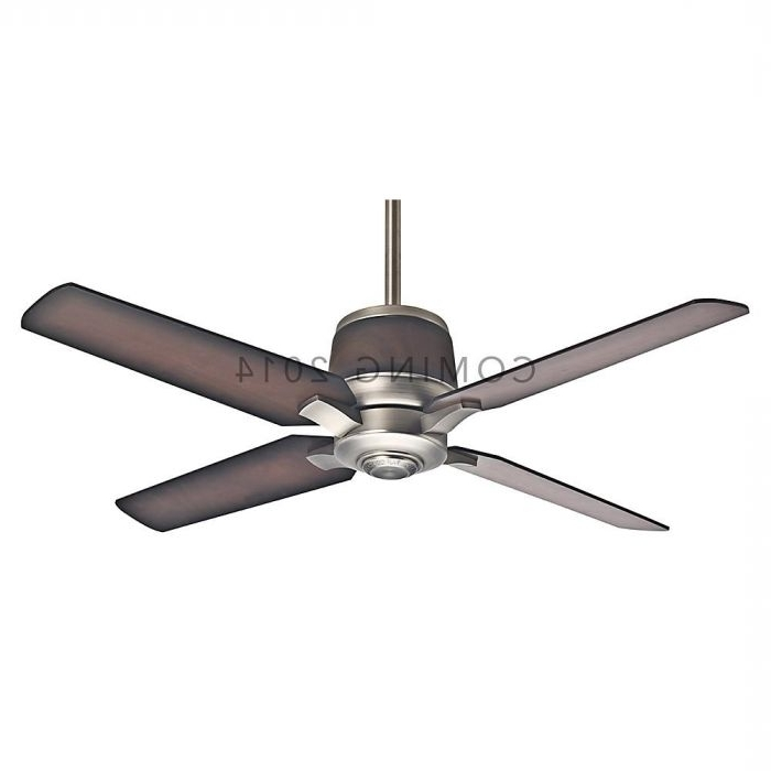 "Well Known Nickel Outdoor Ceiling Fans Throughout Casablanca 54"" Aris Outdoor Ceiling Fan In Brushed Nickel – Outdoor (View 14 of 15)"