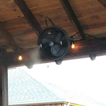 Well Known Outdoor Ceiling Fans With Misters With Enthralling Misting Ceiling Fan On Outdoor Mounted Fans Wall (View 13 of 15)