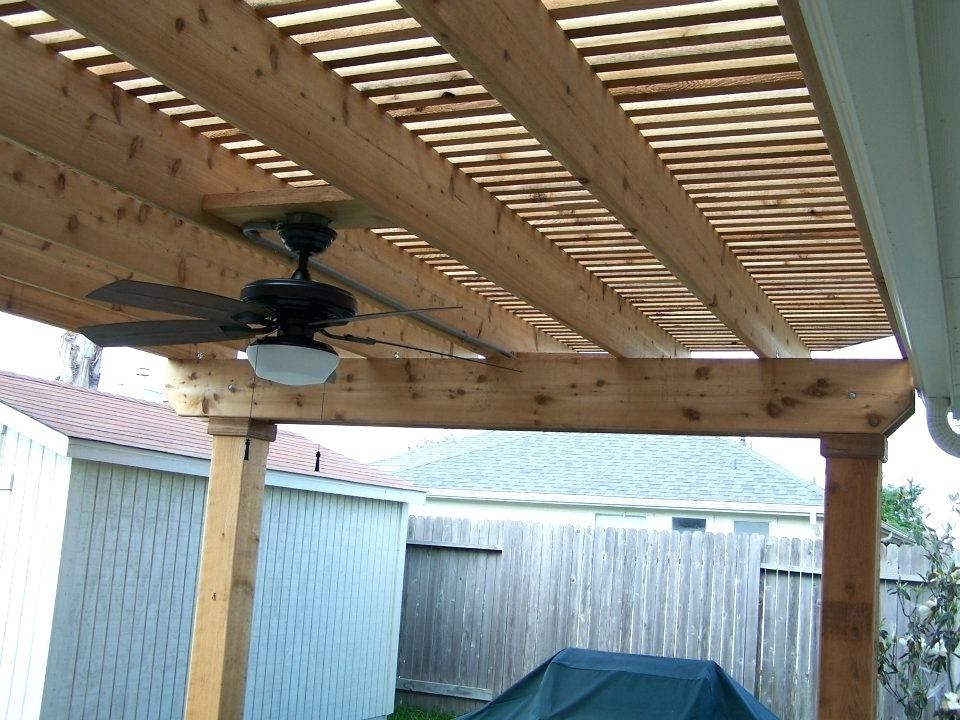Well Known Outdoor Deck Fan Majestic Looking Pergola Fan I Like The Lighting With Outdoor Ceiling Fans Under Pergola (View 6 of 15)
