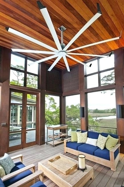 Well Known Oversized Outdoor Ceiling Fans With Regard To Large Outdoor Ceiling Fans Inches Amp Bigger Driftwood Fan Blade (View 7 of 15)