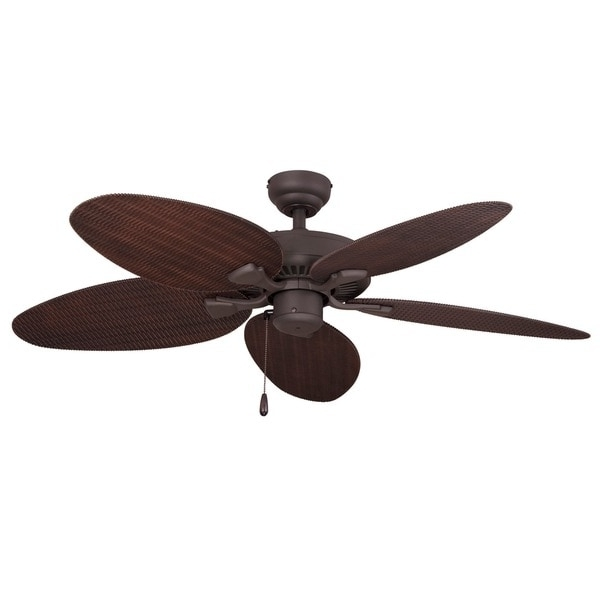 Well Known Shop Ecosure Siesta Key 52 Inch Tropical Bronze Outdoor Ceiling Fan Within Wicker Outdoor Ceiling Fans (View 14 of 15)