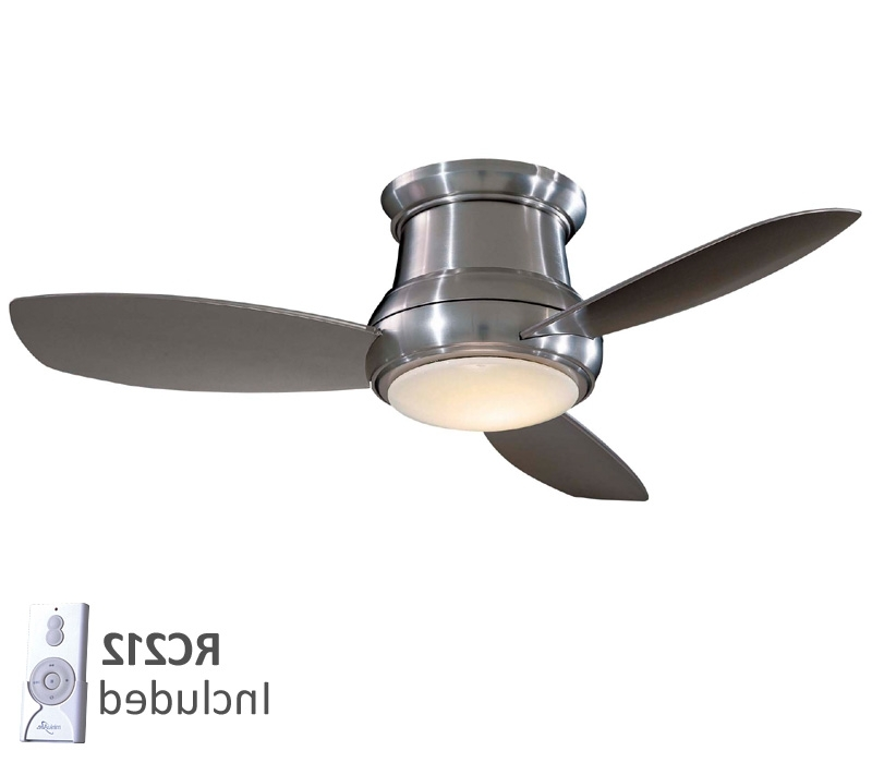 Well Known Sophisticated Small Flush Mount Ceiling Fan Of Recommendations Fans Intended For Outdoor Ceiling Fans With Dimmable Light (View 9 of 15)