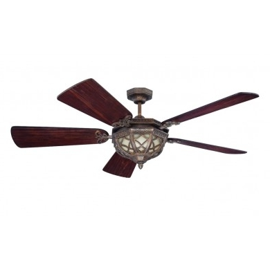 Well Known Traditional Outdoor Ceiling Fans Intended For Craftmade Eva54Pr Evangeline 54 Inch Traditional/outdoor Ceiling Fan (View 14 of 15)