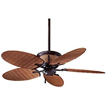 Well Liked Minka Outdoor Ceiling Fans With Lights For Minka Aire F580 Vr/bb, Shangri La Vintage Rust 52 Inch Outdoor (View 7 of 15)