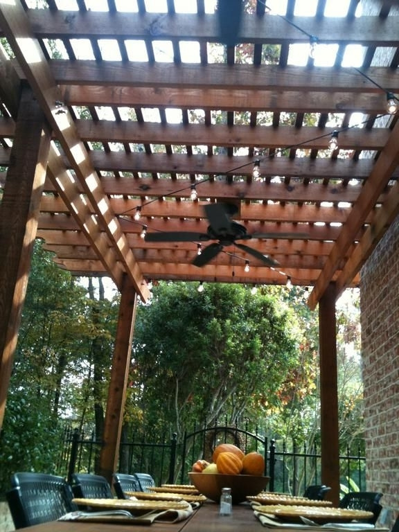 Featured Photo of Outdoor Ceiling Fans For Pergola
