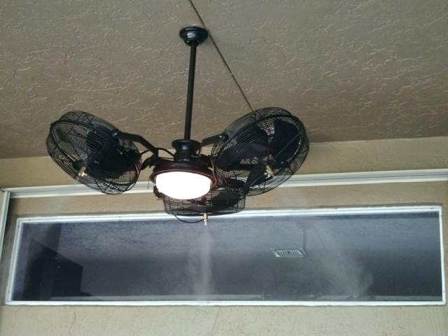 Well Liked Outdoor Ceiling Fans With Misters Pertaining To Misting Systems Mist Cooling Fan And Outdoor System Parts Fans Ng (View 14 of 15)