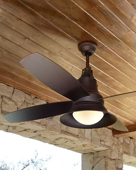"Well Liked Union 52"" Indoor/outdoor Ceiling Fan Intended For Exterior Ceiling Fans With Lights (View 15 of 15)"
