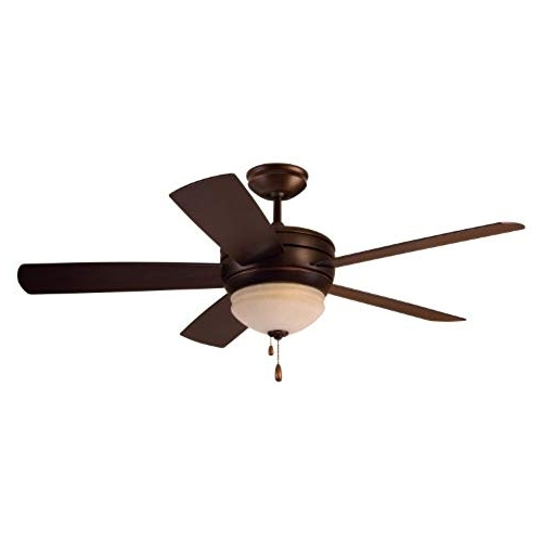 Wet Rated Outdoor Ceiling Fans With Light With Regard To Best And Newest Outdoor Ceiling Fan With Light Wet Rated: Amazon (View 3 of 15)