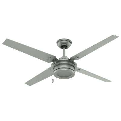 White Ceiling Fans No Lights Indoor Outdoor Matte Silver Ceiling Fan Intended For Most Up To Date 42 Inch Outdoor Ceiling Fans With Lights (View 12 of 15)