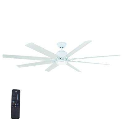 White Outdoor Ceiling Fans With Lights With Regard To Best And Newest White – Angled Mount – Outdoor – Ceiling Fans – Lighting – The Home (View 7 of 15)