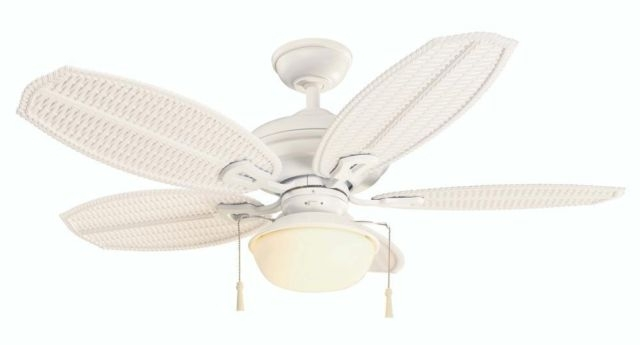 "Wicker Outdoor Ceiling Fans Intended For 2018 Hampton Bay 51469 Palm Beach Iii 48"" Indoor/outdoor Ceiling Fan (View 15 of 15)"