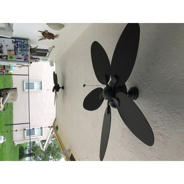 "Wicker Outdoor Ceiling Fans Intended For 2018 Shop 52"" Honeywell Duval Bronze Indoor/outdoor Ceiling Fan With (View 13 of 15)"
