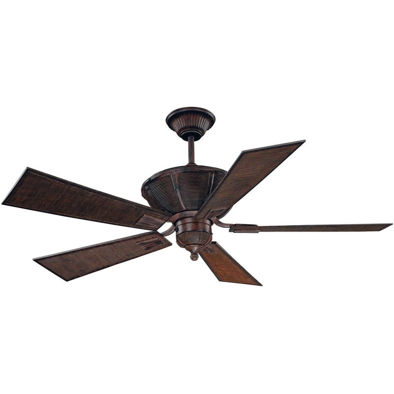 """Widely Used 52 110 5Ba 04 Savoy House Rustic Danville 52"""" 5 Blade Ceiling Fan Within Outdoor Ceiling Fans With Bamboo Blades (View 12 of 15)"""