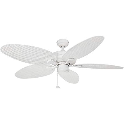 Widely Used Amazon: Honeywell Duvall 52 Inch Tropical Ceiling Fan, Five Wet Intended For Wicker Outdoor Ceiling Fans (View 5 of 15)