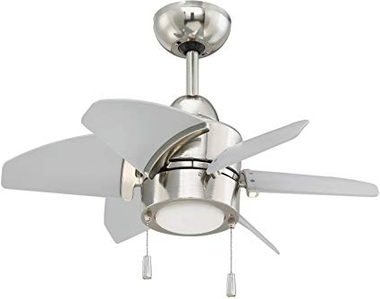 Widely Used Nickel Outdoor Ceiling Fans With Regard To Craftmade Outdoor Ceiling Fan With Led Light Ppl24Pln6 Propel  (View 15 of 15)