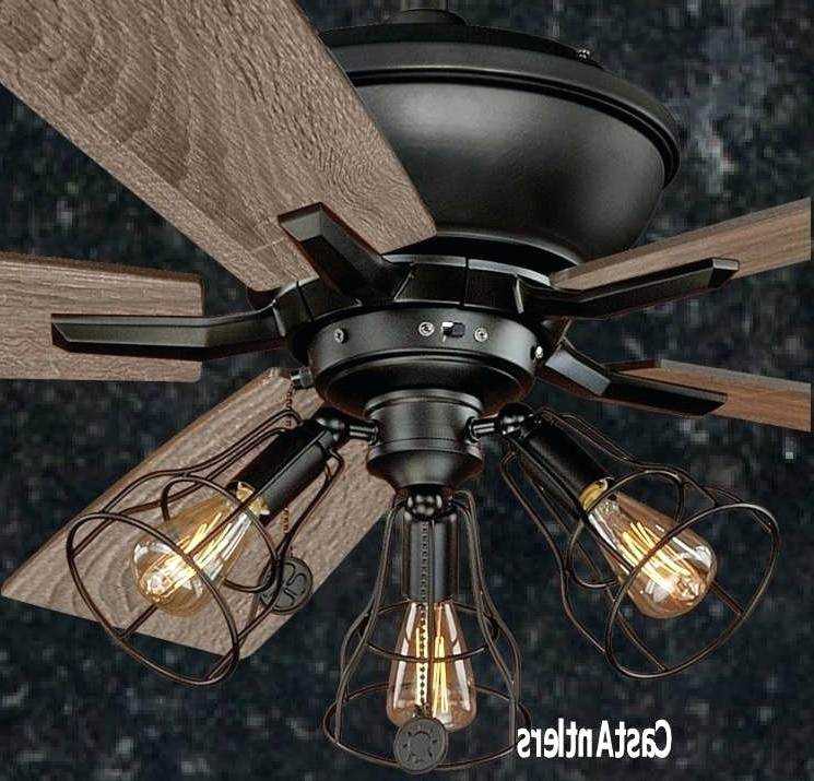 Widely Used Outdoor Ceiling Fans With Cage Within Industrial Outdoor Ceiling Fans Rustic Ceiling Fan W Industrial Cage (View 14 of 15)