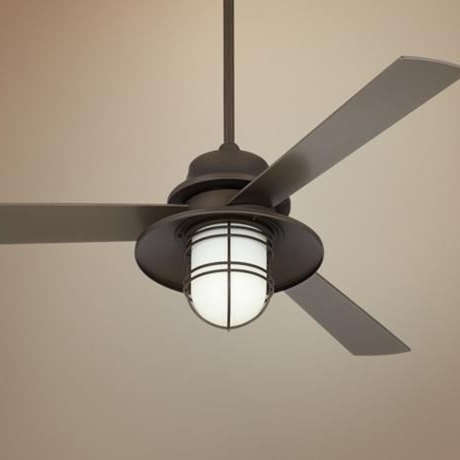 Featured Photo of Industrial Outdoor Ceiling Fans With Light