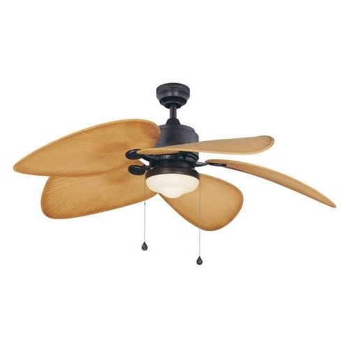 Zoomed: Harbor Breeze 52 In Freeport Aged Bronze Outdoor Ceiling Fan Throughout Best And Newest Harbor Breeze Outdoor Ceiling Fans With Lights (View 15 of 15)