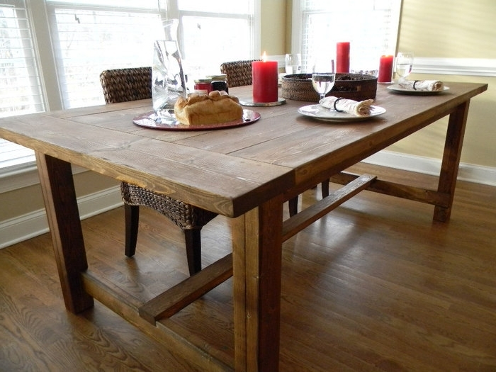 1. Dining Tables Farm Style Dining Table Rustic Farmhouse Dining Within Most Popular Farm Dining Tables (Gallery 20 of 20)