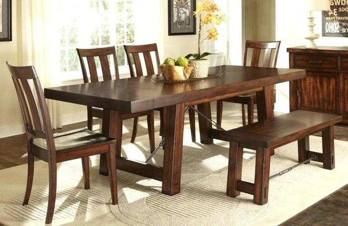 1. High Dining Table Sets Cheap Dining Room Sets With Bench Wood In Recent Cheap Dining Sets (Gallery 18 of 20)