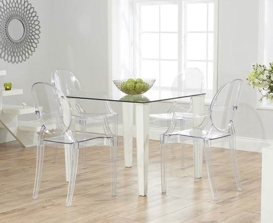 1. Top Plastic Dining Table Chair Set Dining Table And Chairs Khaana For 2017 Clear Plastic Dining Tables (Gallery 6 of 20)