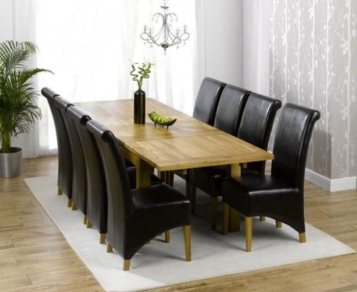 10. East West Furniture Parf9 Blk W 9 Piece Dining Table Set With Regard To Recent 8 Seat Dining Tables (Gallery 19 of 20)