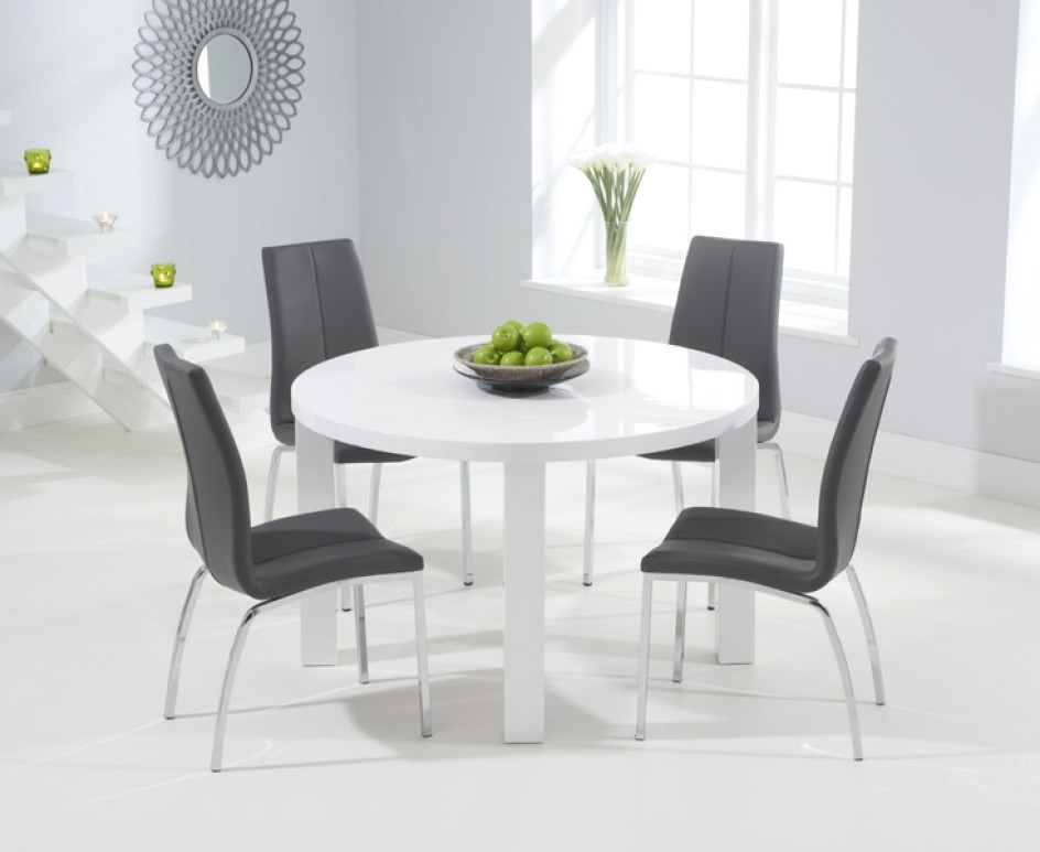 10. Oval And Round High Gloss Dining Table Sets In Well Liked White Gloss Dining Tables Sets (Gallery 20 of 20)